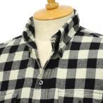 INDIVIDUALIZED SHIRTS【インディビジュアライズドシャツ】ボタンダウンシャツ (スリムフィット バッファローチェック)コットン ホワイト×ブラック