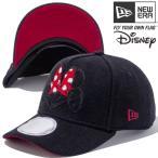 ディズニー×ニューエラ 940キャップ ゴルフ エーフレームトラッカー シェニールロゴ ブラック スカーレット Disney×New Era 9Forty Golf Chenille Logo Black