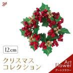 クリスマス リース ミニ ベリー 赤 小さい 12cm おしゃれ 玄関 飾り 北欧 インテリア プレゼント 雑貨 シンプル ギフト