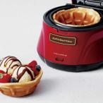 recolte レコルト Waffle Bowl Maker ワッフルボウルメーカー レッド  RWB-1(R)