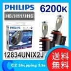 LEDフォグランプ LED Fog 12V車 フィリップス (PHILIPS) 12834UNIX2J X-treme Ultinon 6200K H8/H11/H16 車検対応 (送料無料)