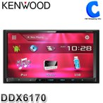カーオーディオ 2DIN レシーバー 7.0V型 ケンウッド (KENWOOD) DDX6170 DVD CD USB iPod MP3/WMA/AAC/WAV対応 (送料無料&お取寄せ)