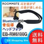 イーバランス ROOMMATE 骨伝導ヘッドフォン Bluetooth対応 ヘッドフォン ヘッドホン ワイヤレス 骨伝導式 ブラック EB-RM6100G (ポイント10倍&送料無料)