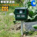 イノシシ対策 超音波 動物撃退器 害獣対策 グッズ ソーラー充電式 フラッシュライト 防滴 電源不要 撃退番長 VS-G040 (VS-G040)