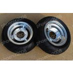 2836-2727 モンキー 8インチ ホイールタイヤ 2.75J 3.5J 銀 2本セット(送料無料/税込み) [タイヤホイール関連]