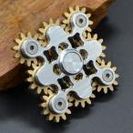 ハンドスピナー 指スピナー ストレス解消 ?? 真鍮製 ギア 高速回転 Hand spinner Fidget Spinner Toy EDC 子供大