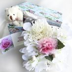 BOX in the Gift petit 小花柄ギフトボックス ピンクのカーネーションと小花のアレンジ 癒しの香り付き ラベンダー 母の日ギフト