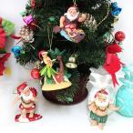 ショッピングオーナメント ハワイアンサンタ クリスマス オーナメント ハワイアン雑貨 インテリア 飾り