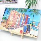 """キャンバスパネル絵 """"kalakaua Avenue"""" INTER NATIONAL Market PLACE  Yoshikatsu Kuriyama 栗山義勝氏"""