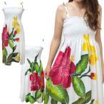 ハイビスカス バティックドレス 2way サマードレス