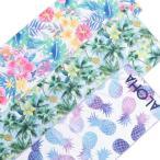 ひんやり タオル ハワイアン雑貨 フェイスタオル おしゃれ Kahiko アロハ クールタオル UVケア 花柄 可愛い
