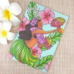 ノート かわいい ハワイアン雑貨 maunaloa マウナロア A5 プルメリア アロハノート おしゃれ 花柄