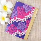 ノート かわいい ハワイアン雑貨 maunaloa マウナロア A5 ハイビスリーフ アロハノート おしゃれ 花柄