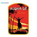 ハワイアンアート デカール ステッカー Aloha Oe  DCL252