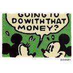 ディズニー ミッキー マット 50×80cm おしゃれ 防ダニ 滑り止め グリーン コミックフレームマット DMM-4059 スミノエ