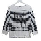 UNDERCOVER アンダーカバー 七分袖Tシャツ ボーダー N9813 カットソー ホワイト 白 M メンズ  中古 27001068