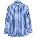 INDIVIDUALIZED SHIRTS インディビジュアライズド シャツ 長袖ボタンダウンシャツ チェック 長袖シャツ 柄 ブルー 青 15 メンズ  中古 27005671