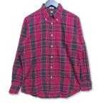INDIVIDUALIZED SHIRTS インディビジュアライズド シャツ 長袖ボタンダウンシャツ チェック 長袖シャツ レッド 赤 14.5 メンズ  中古 27005672
