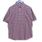 INDIVIDUALIZED SHIRTS インディビジュアライズド シャツ 半袖ボタンダウンシャツ チェック 半袖シャツ バーガンディ 14.5 メンズ  中古 27005679