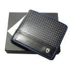 GARNI ガルニ  Pop Dot Fold Wallet 2つ折り財布 黒 ブラック ウォレット GL14006 ポップドット レザー【中古】30005459