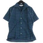 未使用 INDIVIDUALIZED SHIRTS インディビジュアライズドシャツ 半袖シャツ Camp Collar S/S Shirts チェック ネイビー XS メンズ  中古 92001244