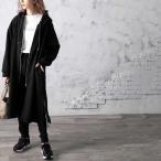 レディース アウター ジャケット コート フード付き パーカー ロング丈 大きいサイズ ゆったり 無地 ジップアップ M XL 冬