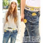 ショッピングジーンズ 大きいサイズ ロリータジーンズ ボーイズ デニム ニコちゃん レディース LOLITA