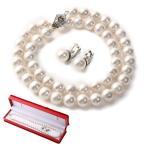 パールネックレス 高級 国産 天然貝 フォーマル イヤリング ピアス セット 冠婚葬祭 結婚式 真珠 ネックレス
