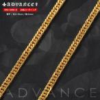 ADVANCE アドバンス ゴールドチェーン ネックレス 18金コーティング 50cm×6mm (ARG-6006-B)