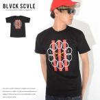 BLACK SCALE ブラックスケール Tシャツ 半袖 和柄タイガー 胸ポケット USフラッグ (BSSU17-GT11) セール