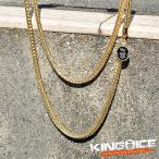 KING ICE キングアイス ネックレス ゴールドチェーン FRANCO HIPHOP CHAIN 60cm×3mm