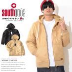 SOUTHPOLE サウスポール ジャケット 中綿 パーカー ポリスウェード キルティング 同色ネーム刺繍 (11631554)