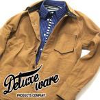 ショッピングデラックス デラックスウエア DeluxeWare 7641 ブラウンダック ワークシャツ 40S DUCKSBUCK SHIRT