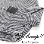 ショッピングギンガムチェック スウィープ Sweep!! オックスフォード ギンガムチェック B.Dシャツ ブラック OXFORDGINGHAM
