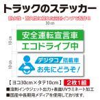 安全運転宣言車 エコドライブ中 デジタコ搭載車 トラックステッカー 2枚1組 ヨコ30cm×タテ10cm TS-2S013