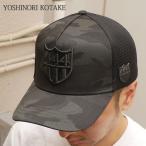 (新品)YOSHINORI KOTAKE(ヨシノリコタケ) 444ロゴエナメル CAMO メッシュキャップ (CAP) BLACKxBLACK 251-000854-011 798497909 (ヘッドウェア)