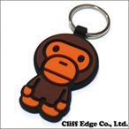 (新品)A BATHING APE(エイプ) MILO RUBBER KEY HOLDER (キーホルダー) BROWN 278-000388-016(2B20-182-074) 798497719 (グッズ)