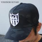 YOSHINORI KOTAKE(ヨシノリコタケ) x BARNEYS NEWYORK 444ロゴ エナメル メッシュキャップ (CAP) BLACK 251-000978-011+【新品】 (ヘッドウェア)