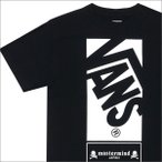 mastermind JAPAN(マスターマインドジャパン)  x VANS(バンズ)  OFF THE WALL S/S TEE (Tシャツ)  BLACK 200-007099-041+【新品】(半袖Tシャツ)
