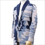 BAREFOOT DREAMS for RHC Ron Herman (ベアフットドリームス ロンハーマン) SOUTHWESTERN SHAWL CARDIGAN BLUE 239-000162-014+【新品】(TOPS)