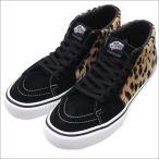 SUPREME(シュプリーム)  x VANS(バンズ)  Leopard Velvet Sk8-Mid Pro (スケートミッド) BLACK 291-002203-281+【新品】(フットウェア)