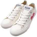 PLAY COMME des GARCONS  (プレイ コムデギャルソン)  x CONVERSE(コンバース)  ALL STAR OX/PCDG  WHITE 291-002211-260x【新品】(フットウェア)