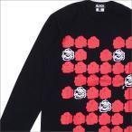 ショッピングCOMME BLACK COMME des GARCONS(ブラック コムデギャルソン) DOT ROSE PRINT L/S TEE (長袖Tシャツ) BLACK 202-000915-051x【新品】(TOPS)