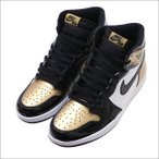 NIKE(ナイキ) AIR JORDAN 1 RETRO HIGH OG NRG (エアジョーダン) BLACK/BLACK-METALLIC GOLD 861428-007 291-002396-281+【新品】(フットウェア)