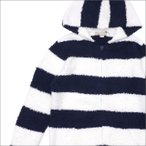 BAREFOOT DREAMS for Ron Herman (ベアフットドリームス)(ロンハーマン) Men's Striped Hoodie (パーカー) NAVY 212-001021-047x【新品】(SWT/HOODY)