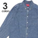 新品 シュプリーム SUPREME 20SS Jacquard Logos Denim Shirt デニム 長袖シャツ 216001620034 TOPS