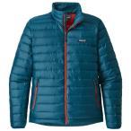 パタゴニア Down Sweater (Big Sur Blue W / Fire Red)