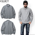SALE 30%OFF!【CLUCT/クラクト】 CLUCT L/S CHECK SHIRT (NAVY×GREEN) #02224 / 期間・数量限定!