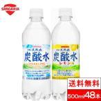 【送料無料】サンガリア伊賀の炭酸水500mlPET24本(24本x2ケース)プレーン&レモン