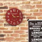 掛け時計 レトロ おしゃれ 赤 ロンドン 直径28cm 掛時計 ブルックリン 壁掛け時計 かわいい 時計 ウォールクロック 壁掛け デザイン アンティーク